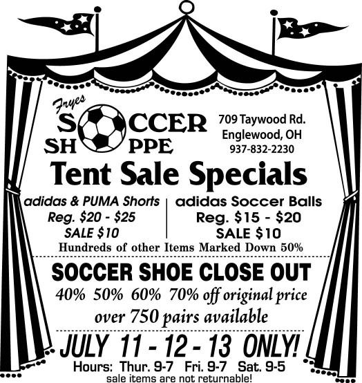 Fryes Tent Sale '13